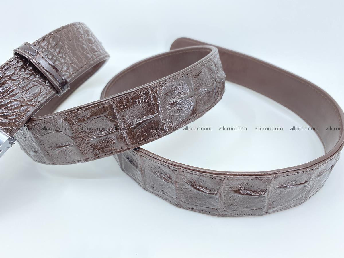 Crocodile leather hornback belt 713 Foto 4