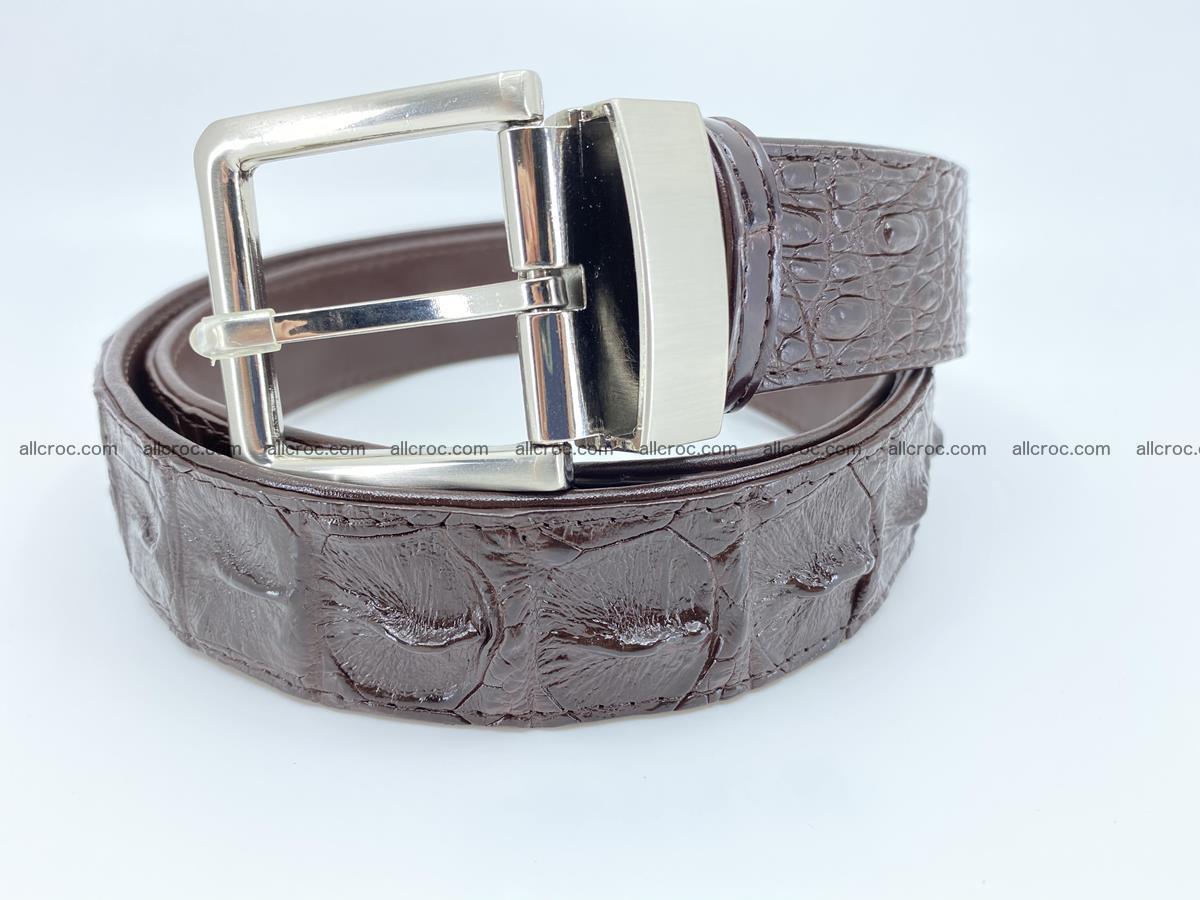 Crocodile leather hornback belt 719 Foto 0