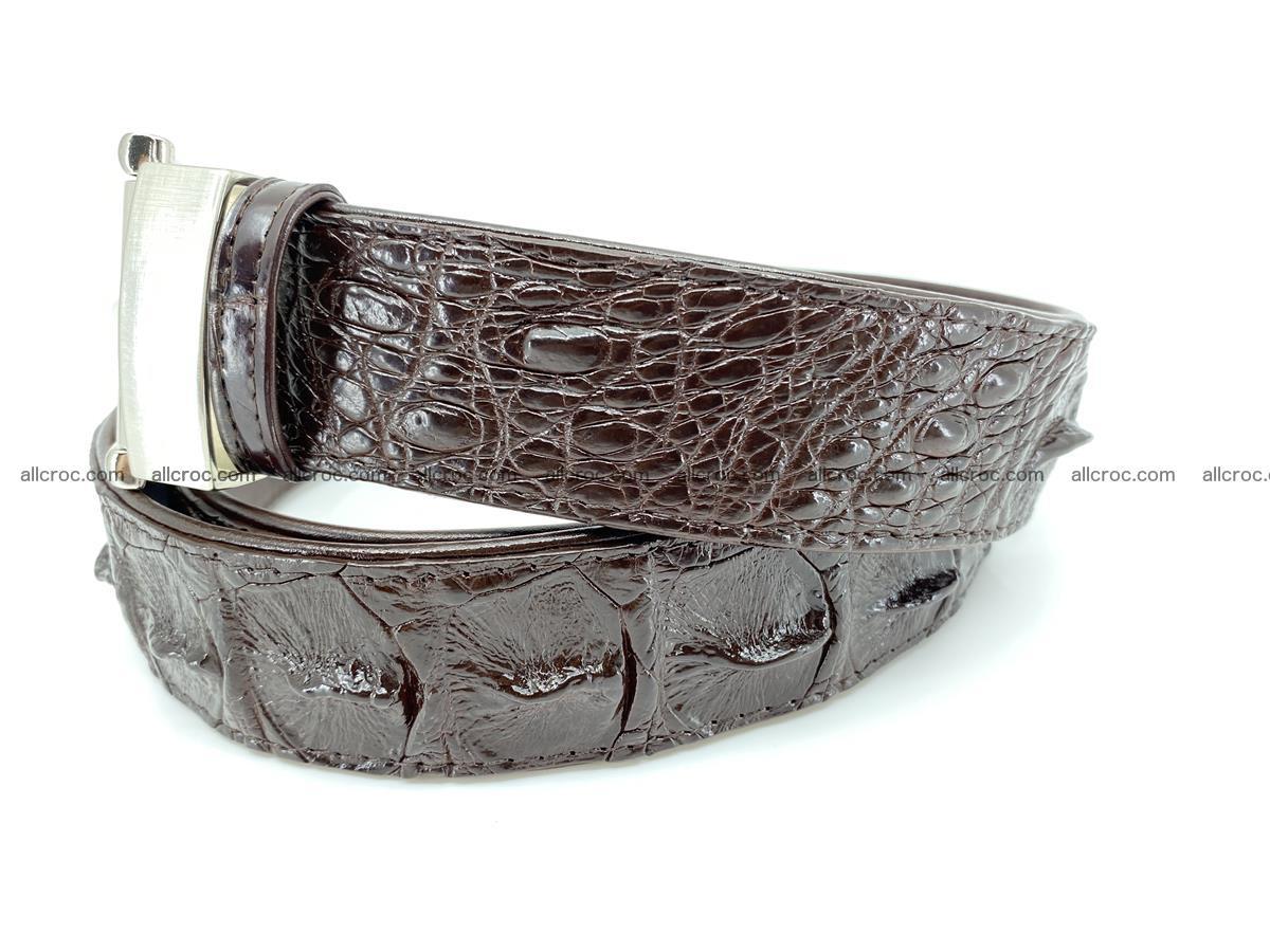 Crocodile leather hornback belt 719 Foto 1