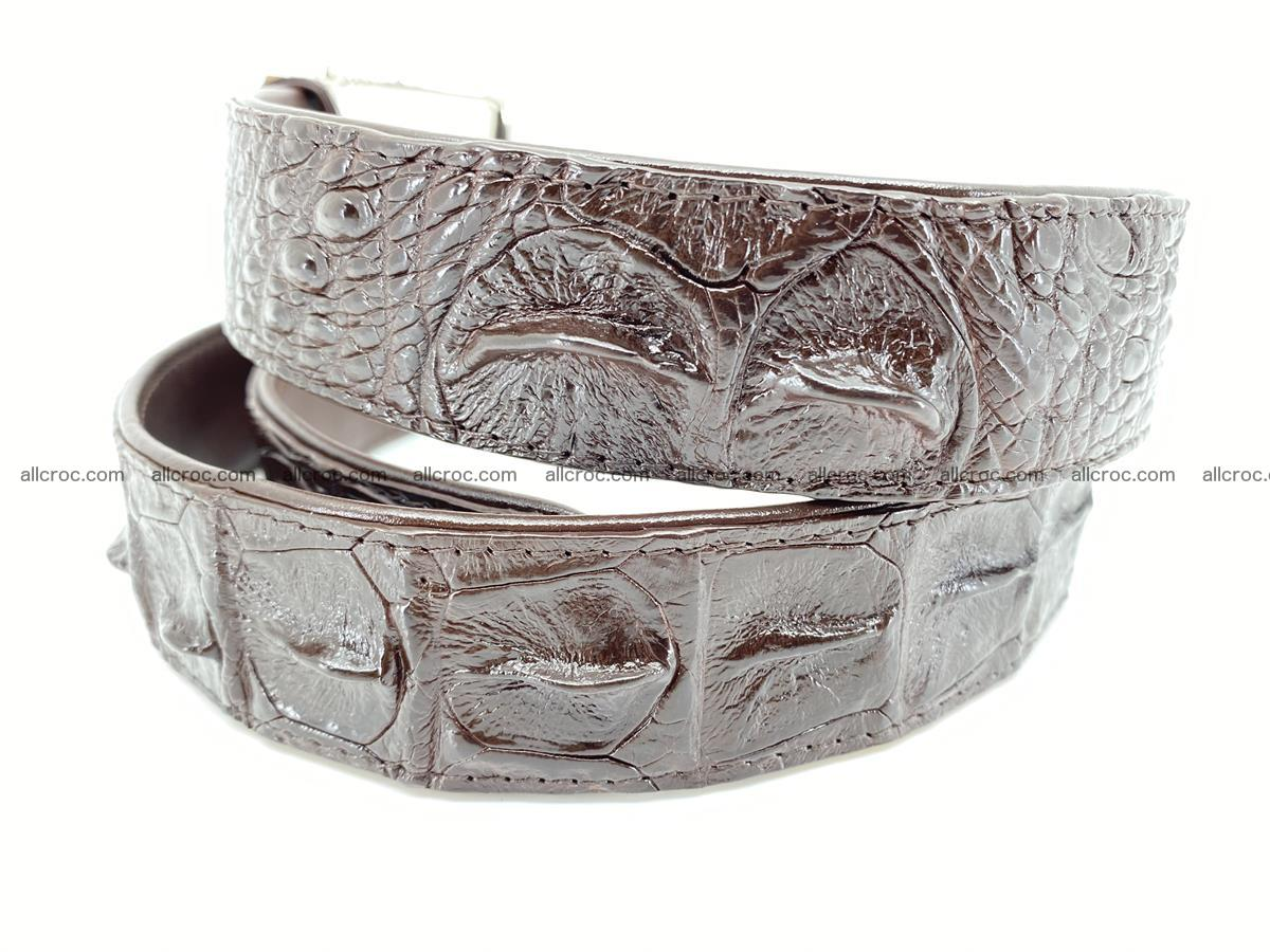 Crocodile leather hornback belt 719 Foto 4