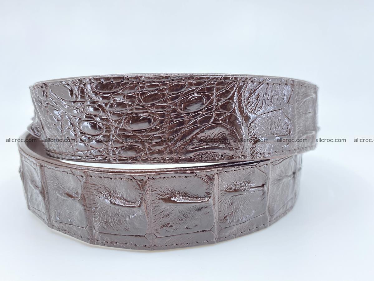 Crocodile leather hornback belt 719 Foto 5