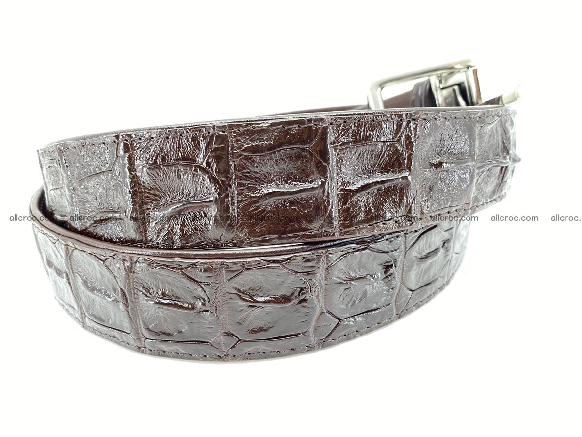 Crocodile leather hornback belt 719 Foto 2