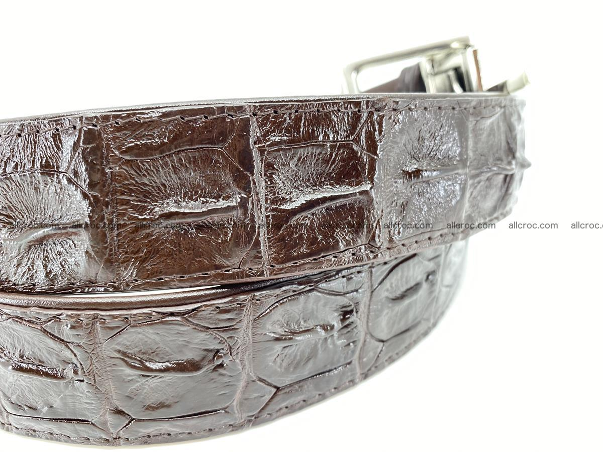 Crocodile leather hornback belt 719 Foto 3
