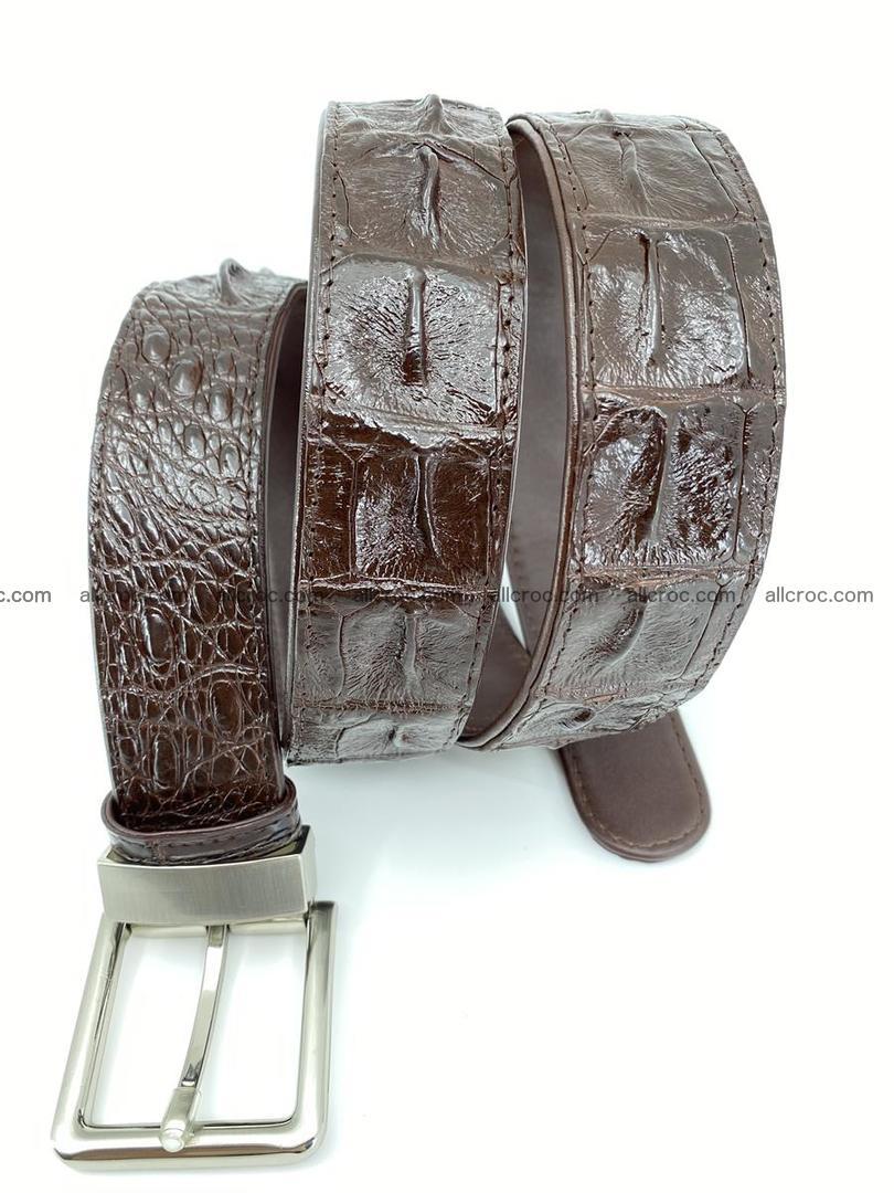 Crocodile leather hornback belt 719 Foto 6