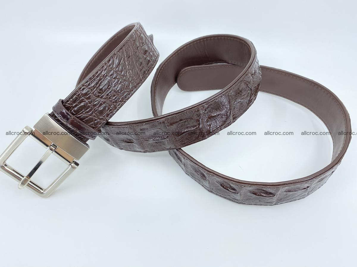 Crocodile leather hornback belt 719 Foto 7