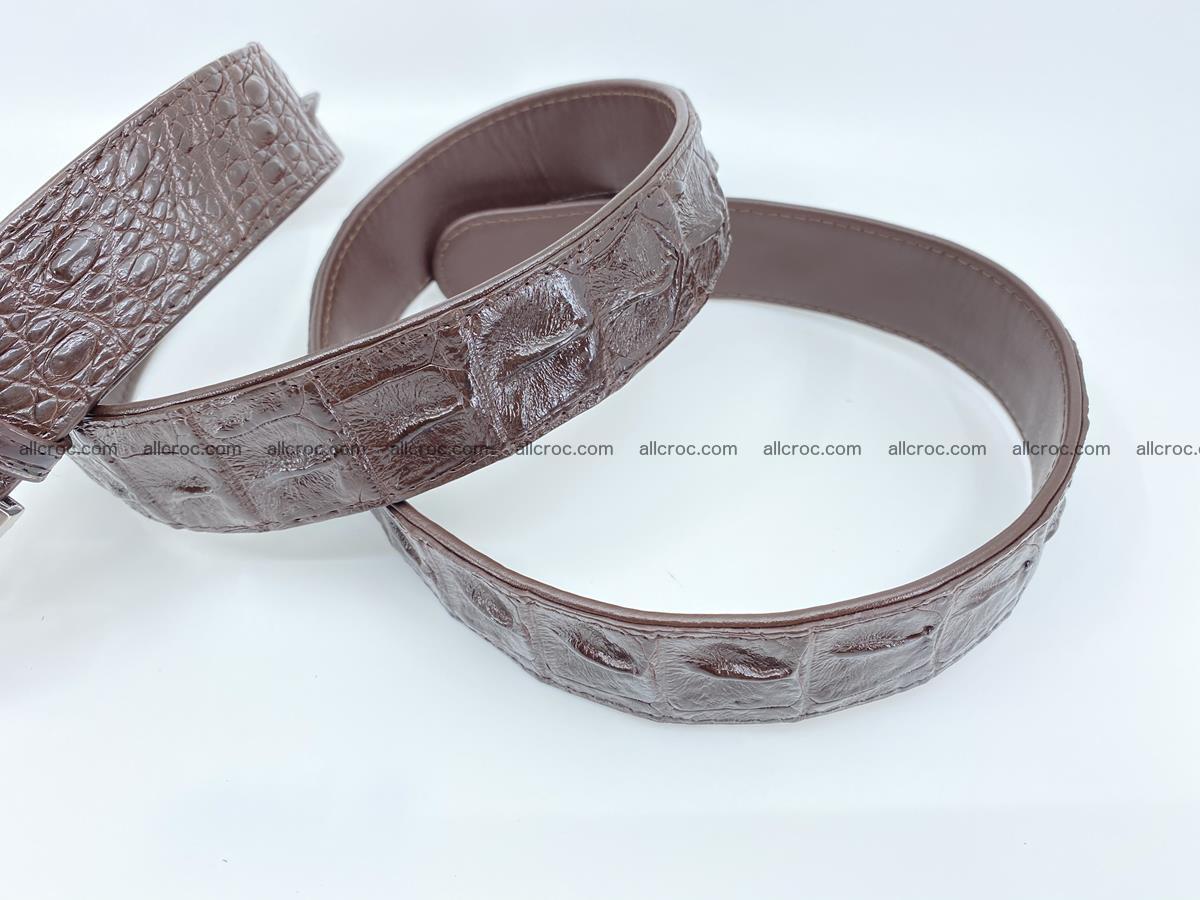 Crocodile leather hornback belt 719 Foto 8