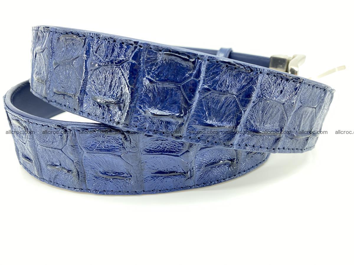 Crocodile leather hornback belt 720 Foto 2