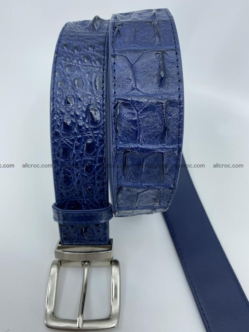 Crocodile leather hornback belt 720 Foto 6