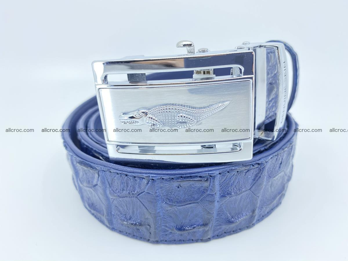 Crocodile leather hornback belt 722 Foto 0