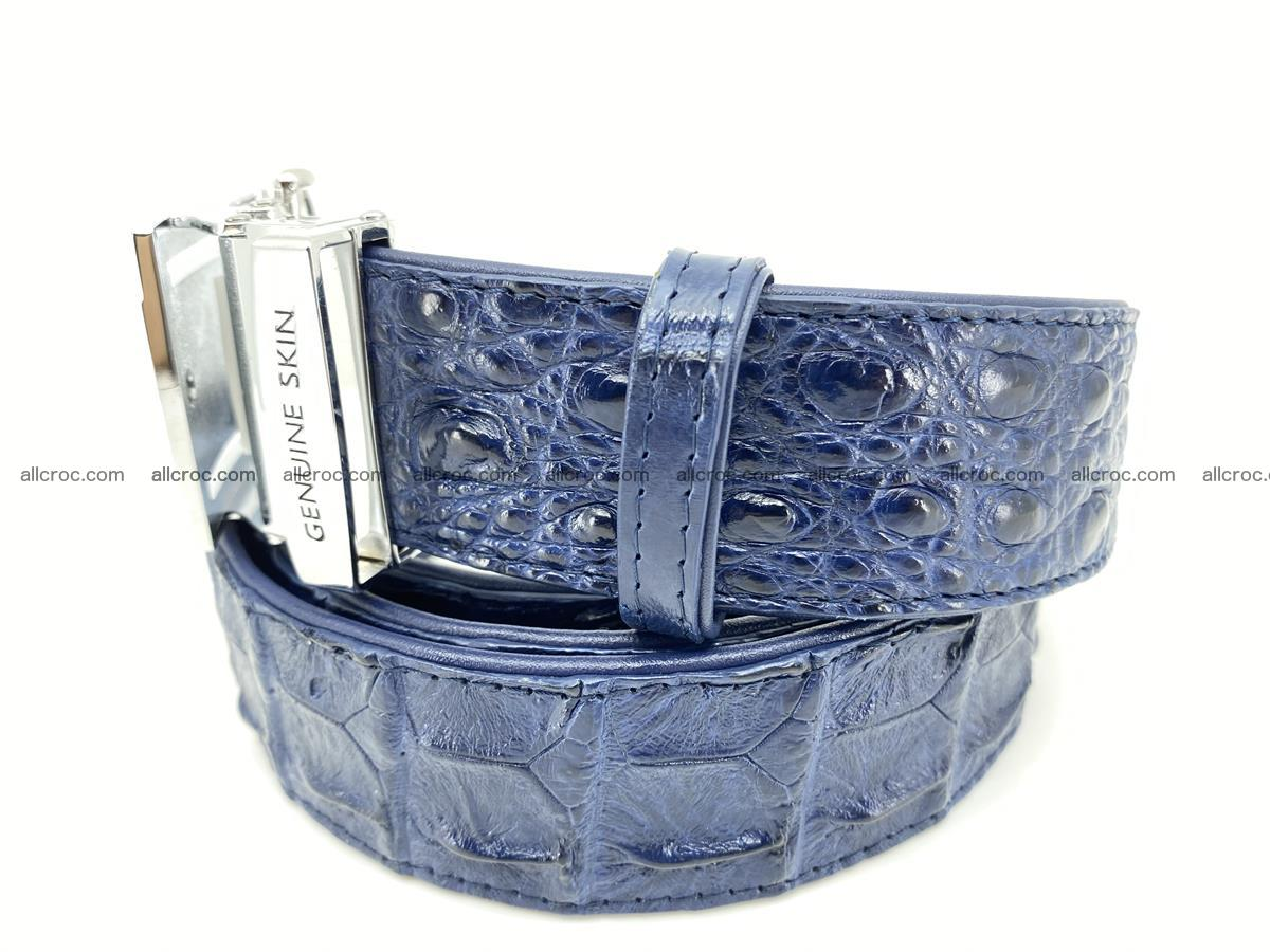 Crocodile leather hornback belt 722 Foto 1