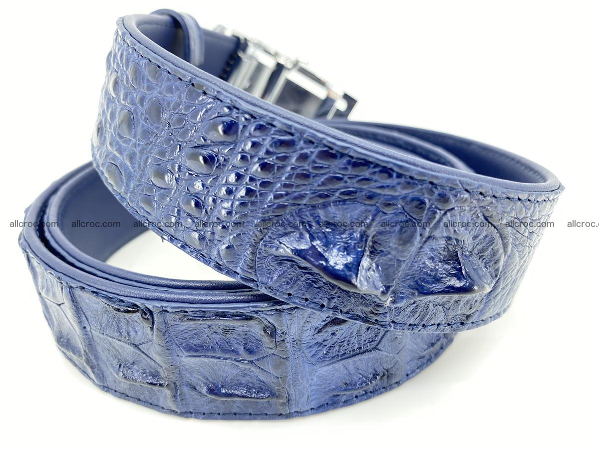 Crocodile leather hornback belt 722 Foto 2