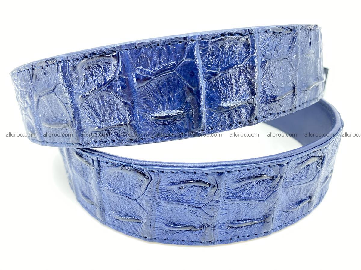 Crocodile leather hornback belt 722 Foto 3