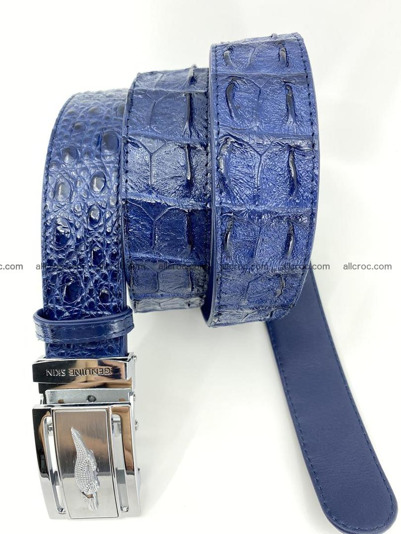 Crocodile leather hornback belt 722 Foto 5