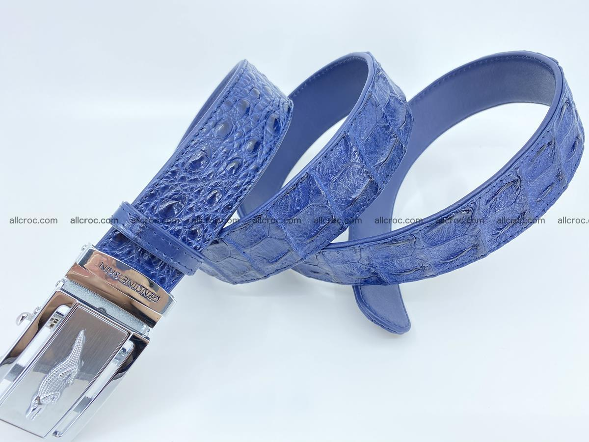 Crocodile leather hornback belt 722 Foto 4