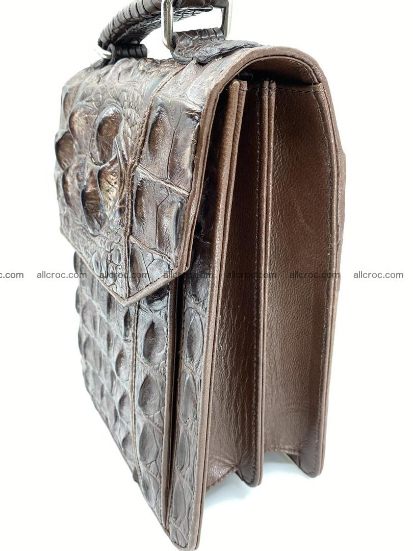 Crocodile leather handbag for men 694 Foto 3