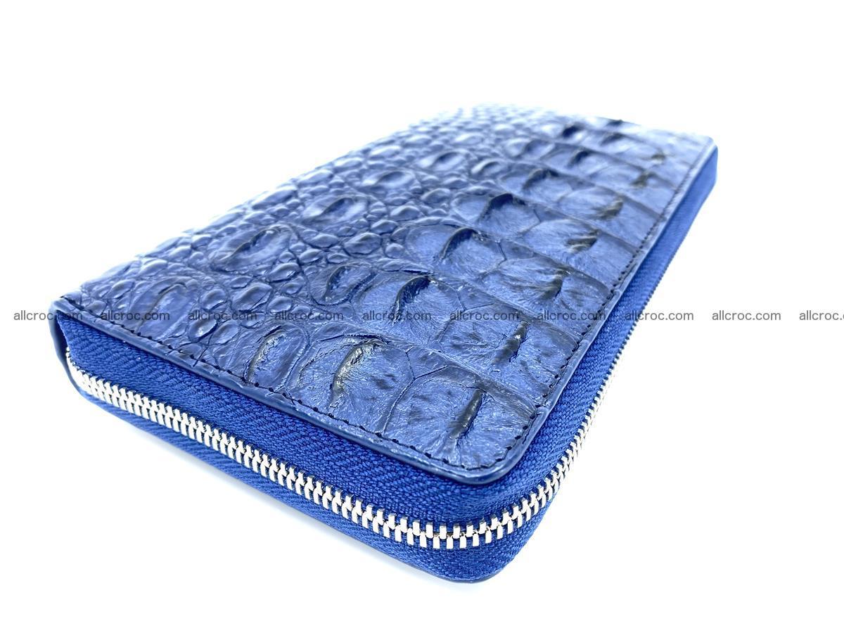 Crocodile skin zip wallet L-size 657 Foto 0