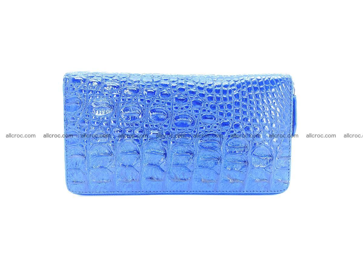 Crocodile skin zip wallet L-size 657 Foto 1