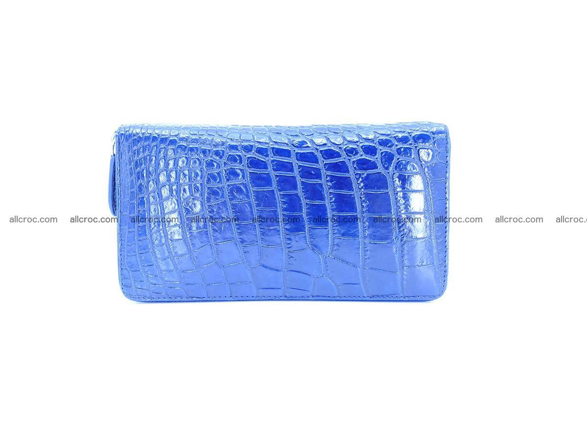 Crocodile skin zip wallet L-size 657 Foto 2