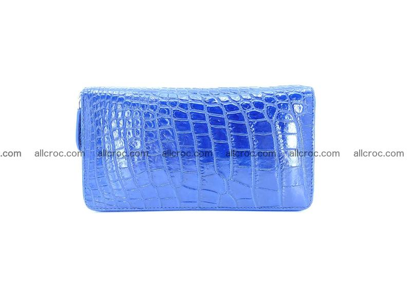 Crocodile leather wallet 1 zip 657