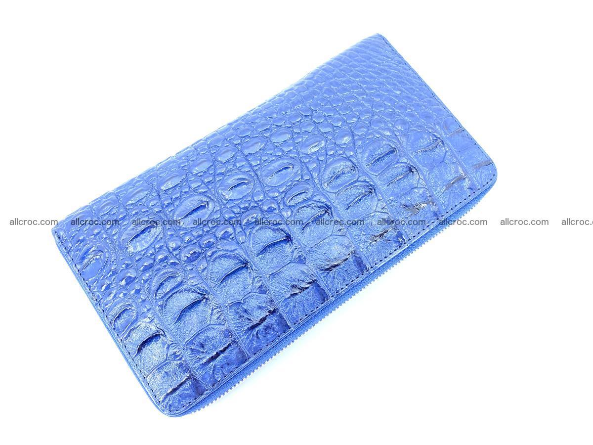 Crocodile skin zip wallet L-size 657 Foto 5