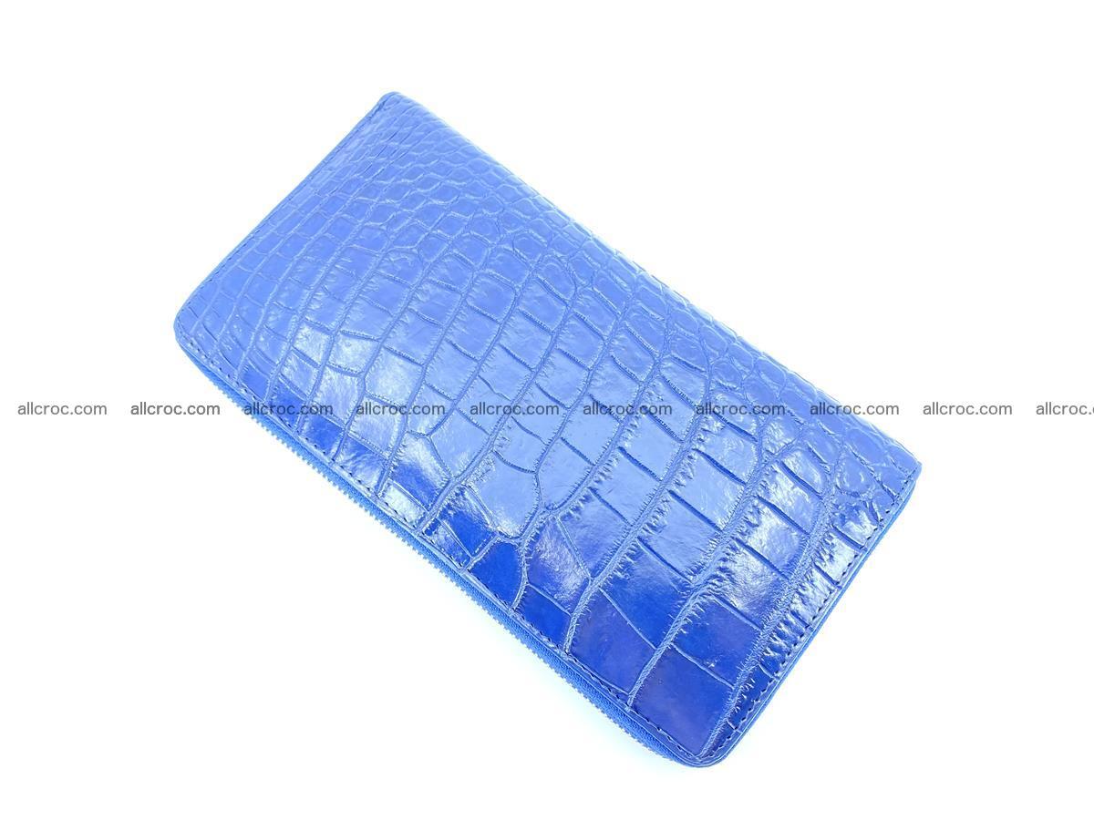 Crocodile skin zip wallet L-size 657 Foto 6