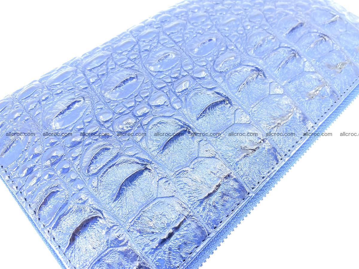 Crocodile skin zip wallet L-size 657 Foto 8