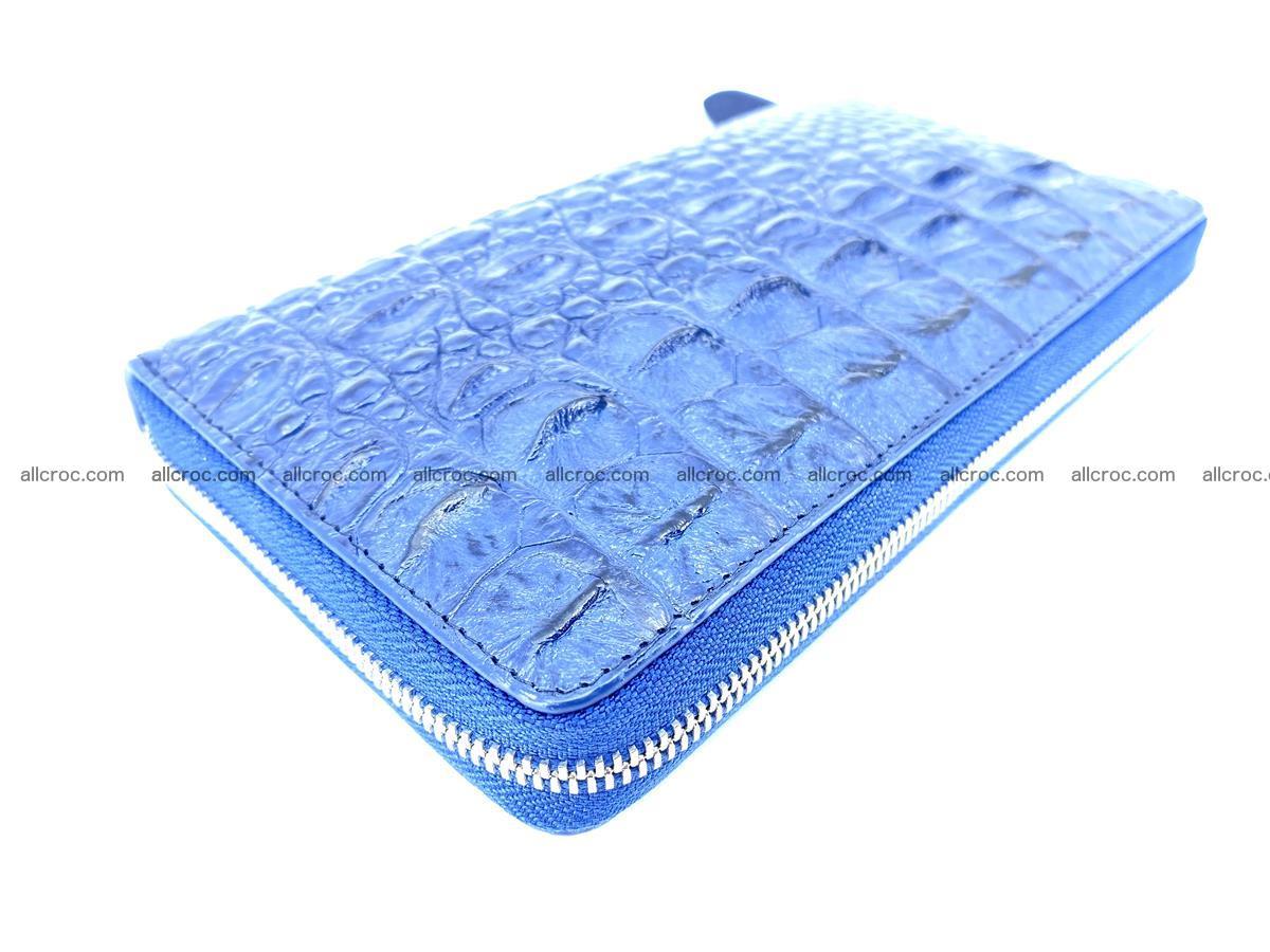 Crocodile skin zip wallet L-size 657 Foto 7
