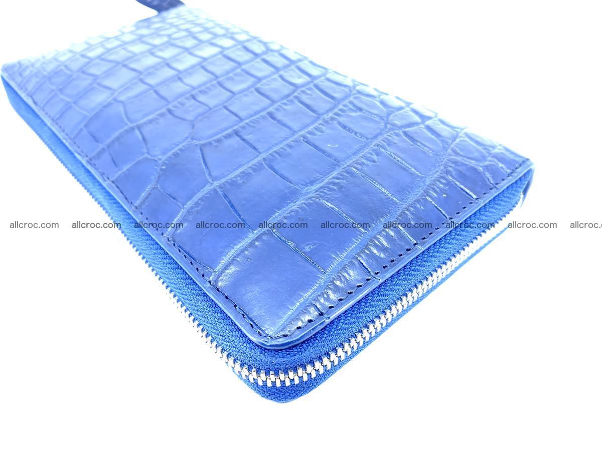 Crocodile skin zip wallet L-size 657 Foto 9