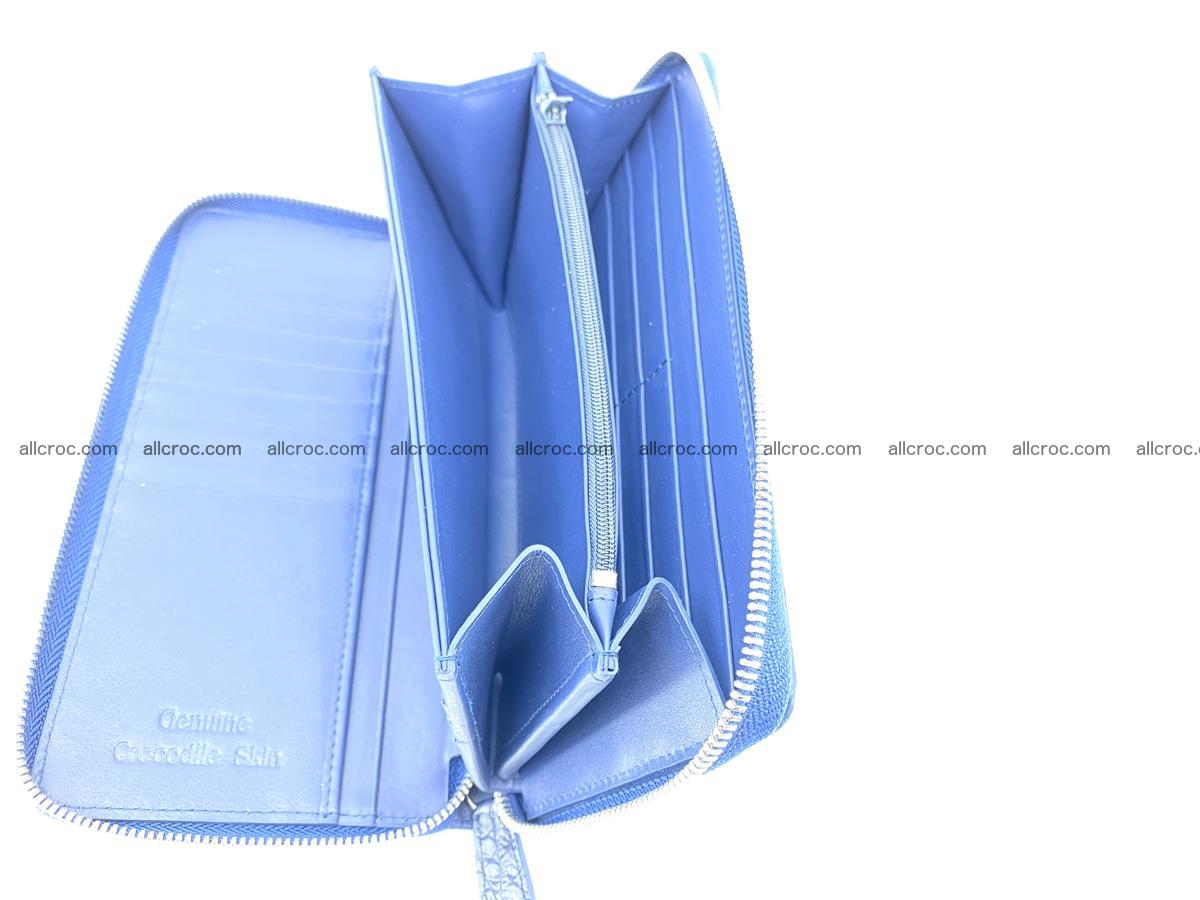 Crocodile skin zip wallet L-size 657 Foto 14