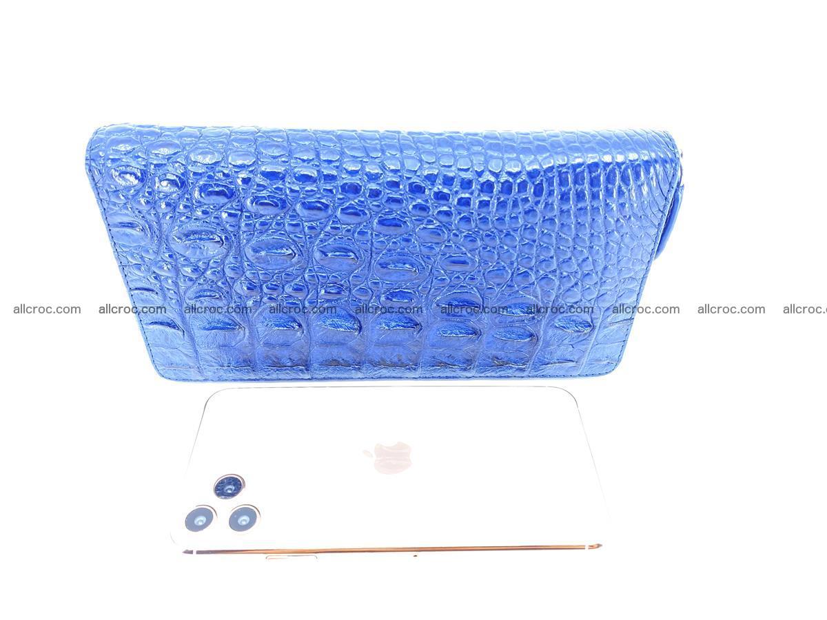 Crocodile skin zip wallet L-size 657 Foto 16