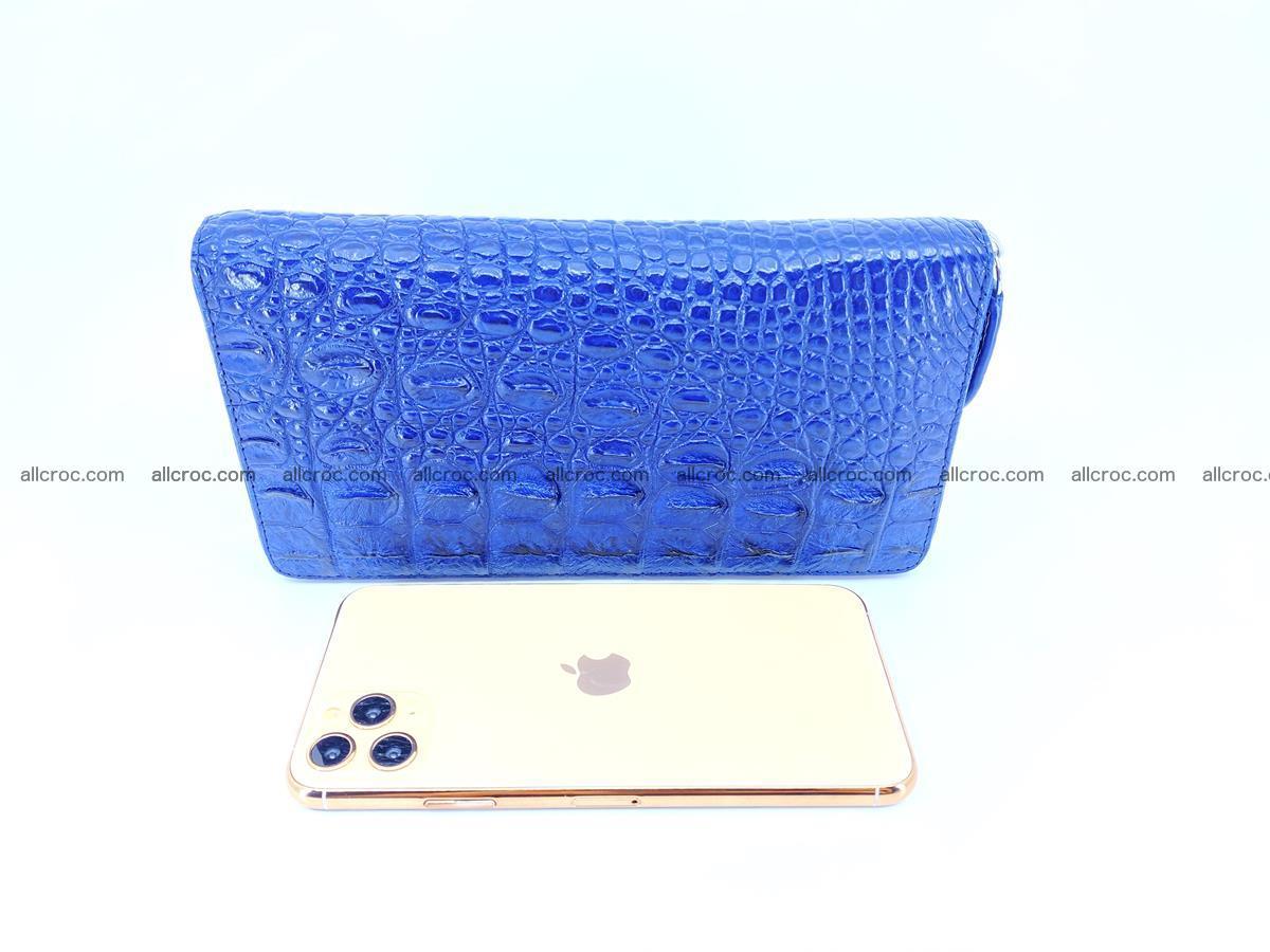 Crocodile skin zip wallet L-size 657 Foto 15