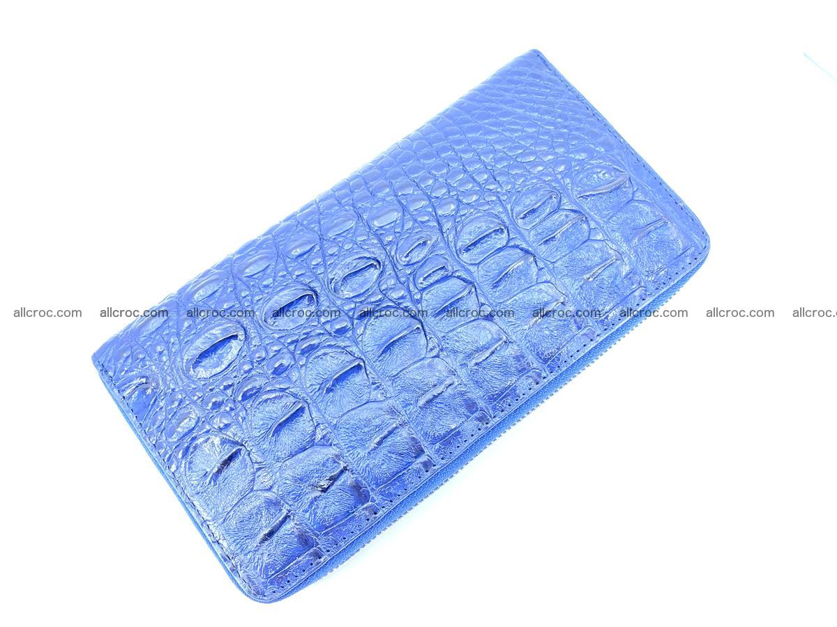 Crocodile leather wallet 1 zip 656 Foto 4