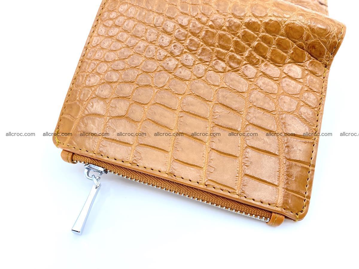 Crocodile leather vertical wallet HK 641 Foto 3