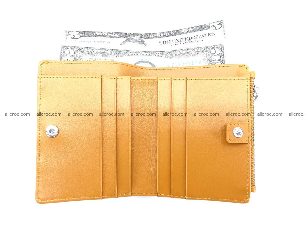 Crocodile leather vertical wallet HK 641 Foto 6