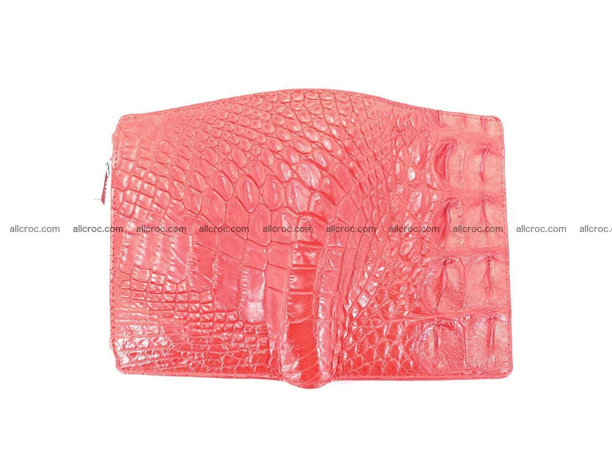 Crocodile leather vertical wallet HK 643 Foto 2