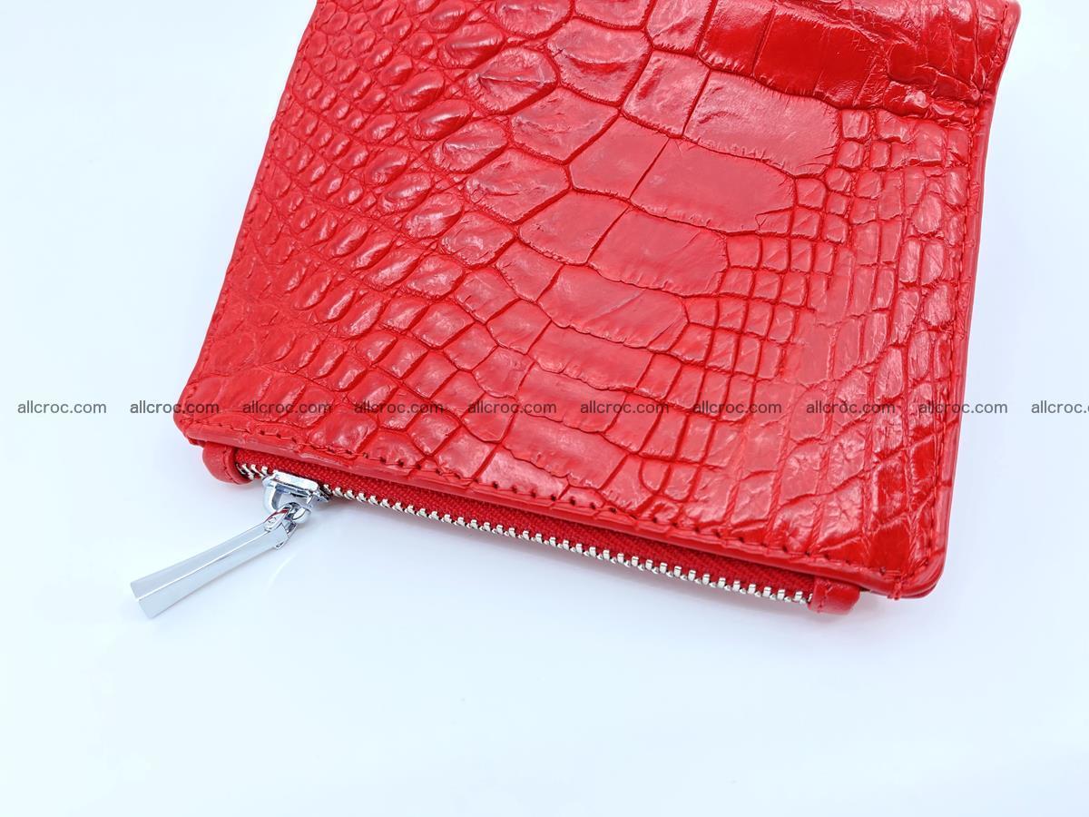 Crocodile leather vertical wallet HK 643 Foto 3