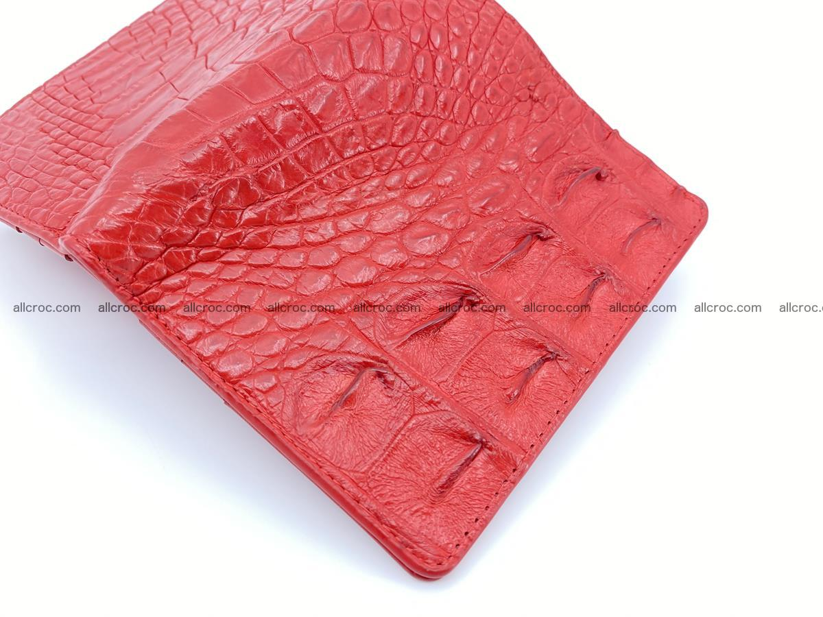 Crocodile leather vertical wallet HK 643 Foto 4