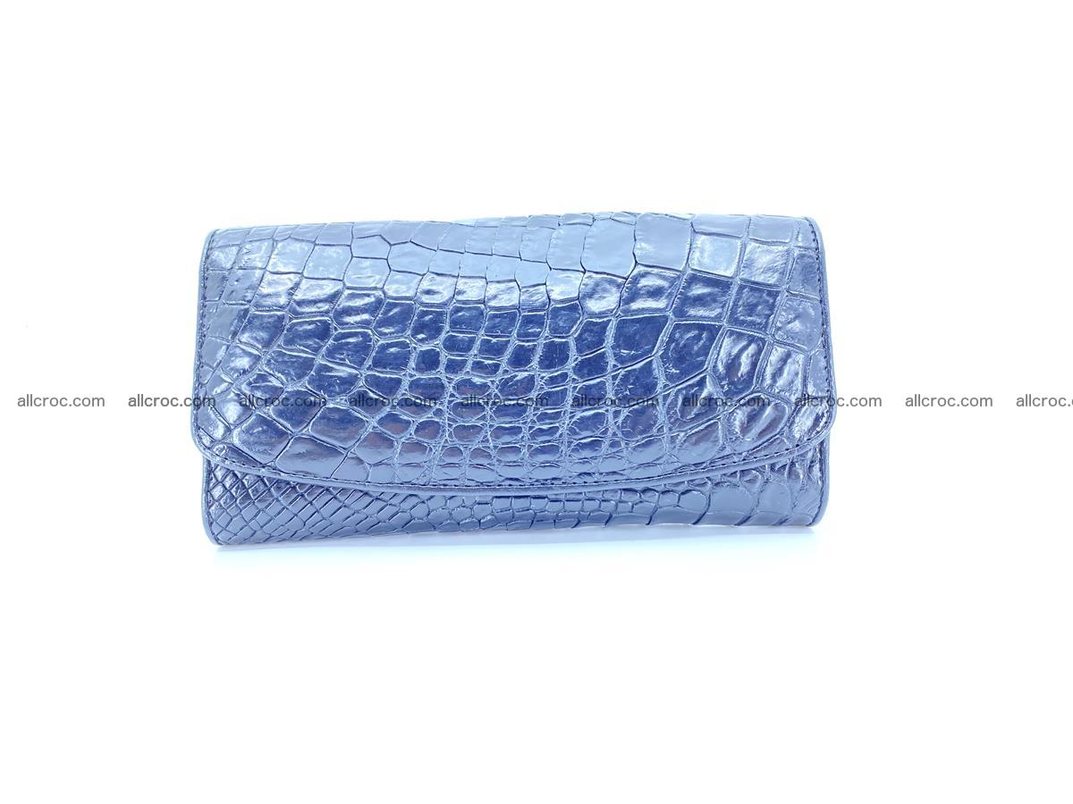 Crocodile leather long wallet trifold 596 Foto 0