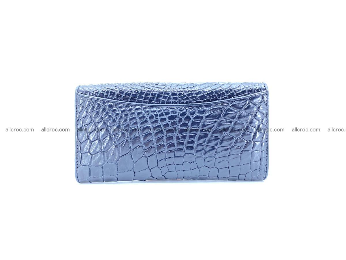 Crocodile leather long wallet trifold 596 Foto 1