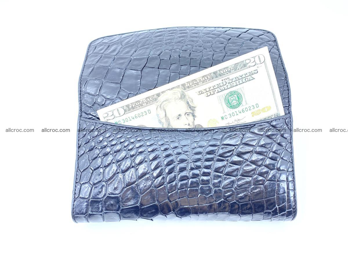Crocodile leather long wallet trifold 596 Foto 2