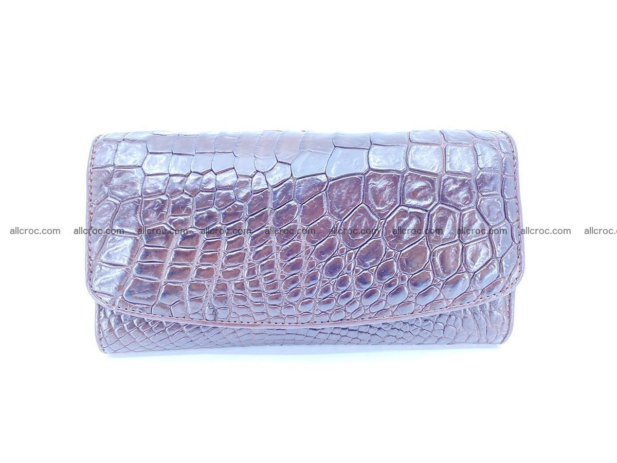 Crocodile leather long wallet trifold 595 Foto 0