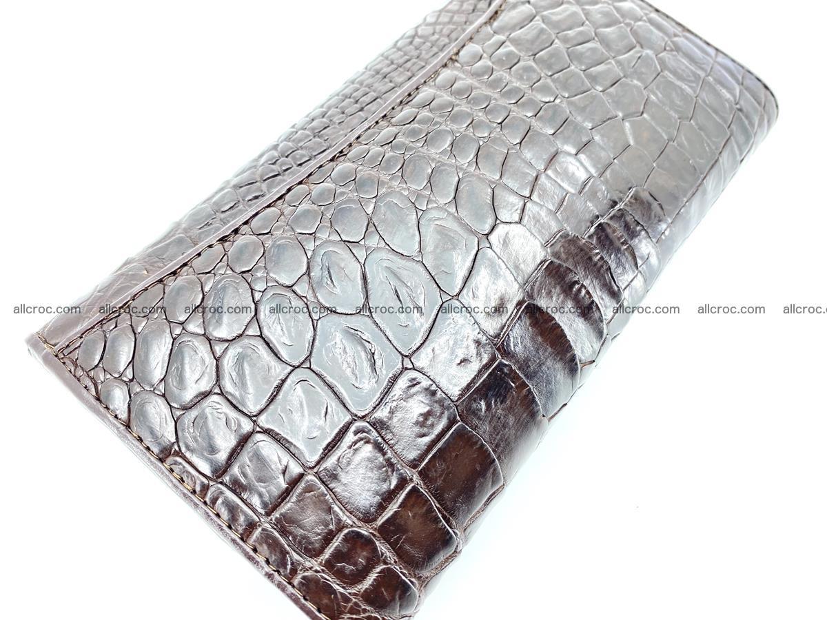 Crocodile leather long wallet trifold 595 Foto 3