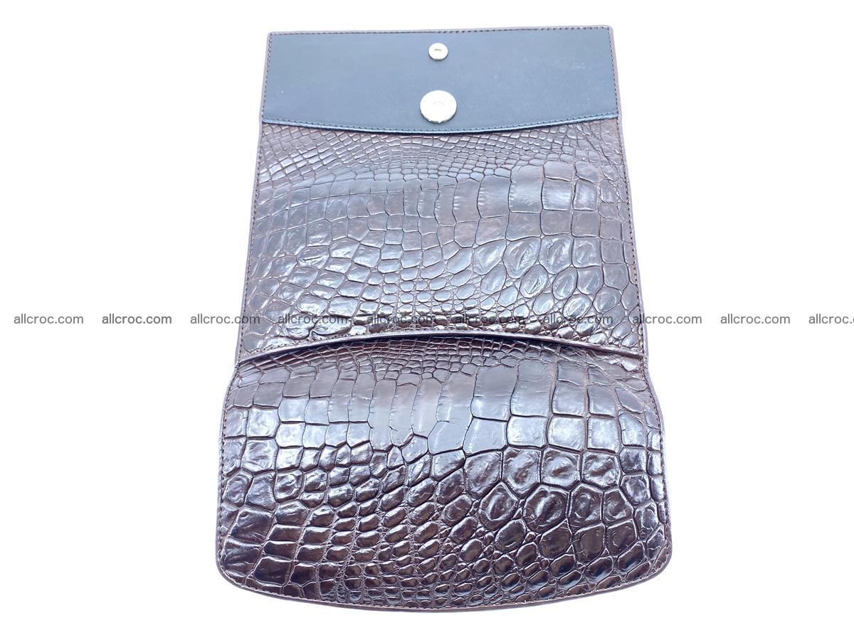 Crocodile leather long wallet trifold 595 Foto 8