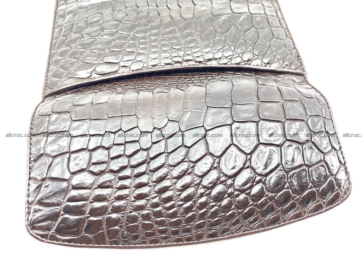 Crocodile leather long wallet trifold 595 Foto 4