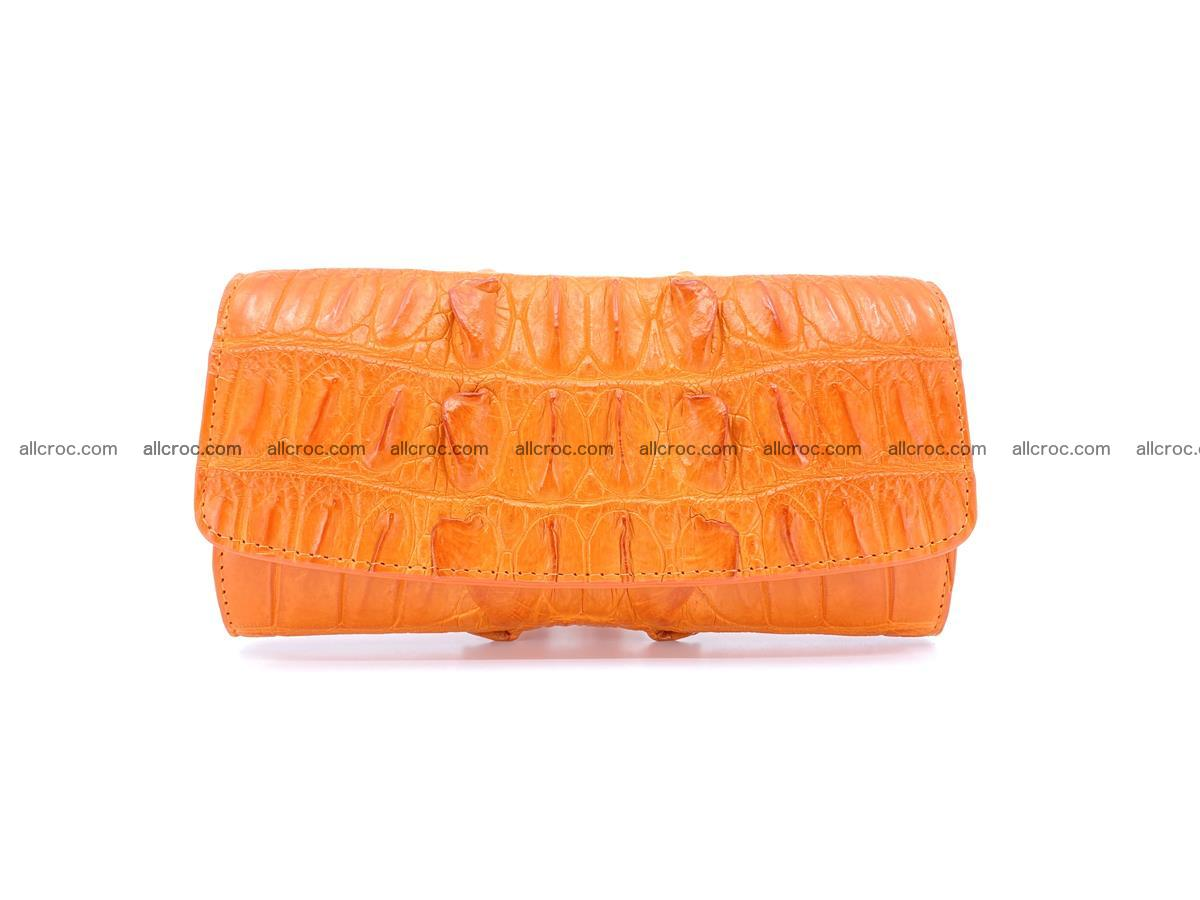 Crocodile leather long wallet trifold 618 Foto 0