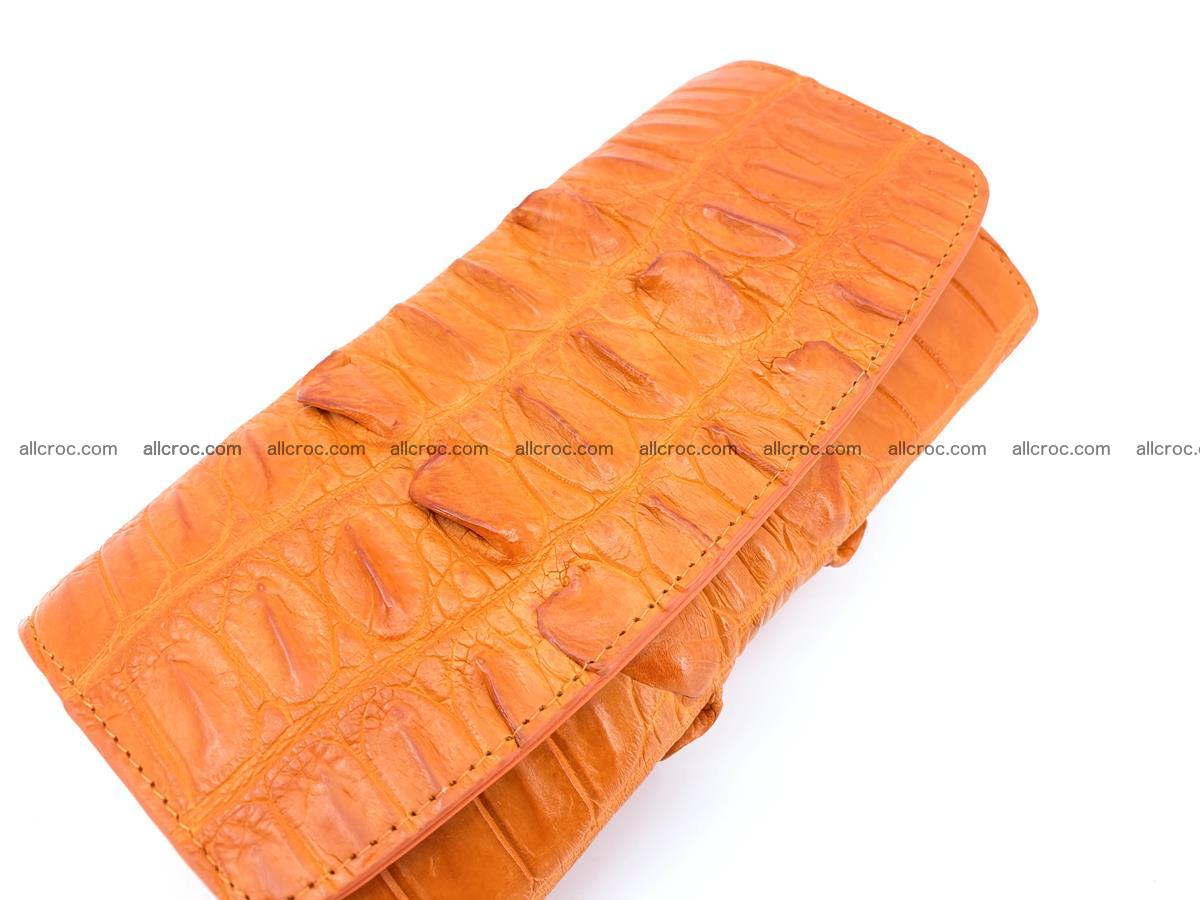 Crocodile leather long wallet trifold 618 Foto 2