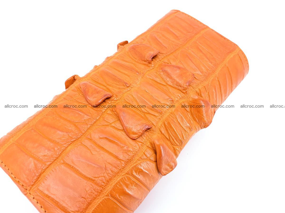 Crocodile leather long wallet trifold 618 Foto 3