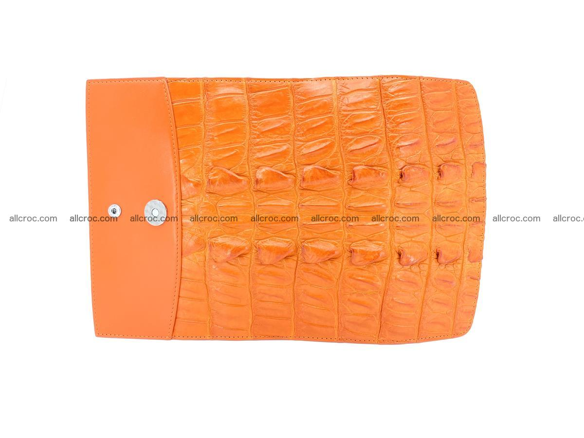 Crocodile leather long wallet trifold 618 Foto 8