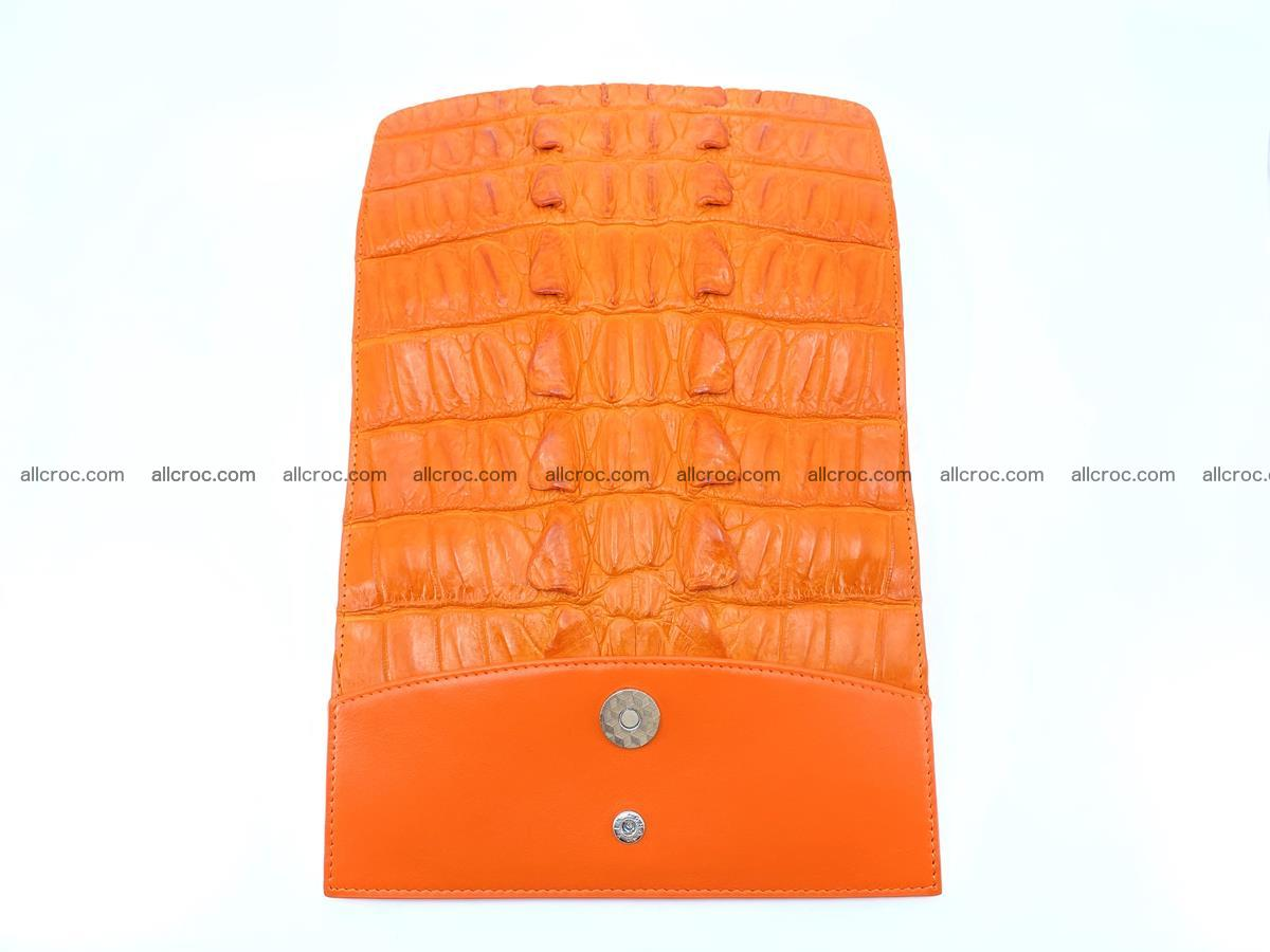Crocodile leather long wallet trifold 618 Foto 6