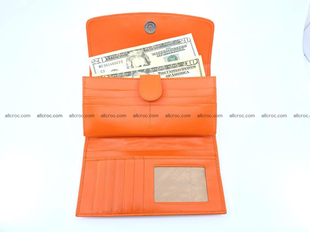 Crocodile leather long wallet trifold 618 Foto 4